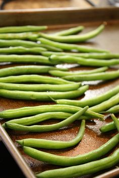 Green Bean Fries. Great for a weeknight. I could eat the whole tray!