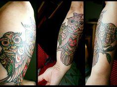 Mom & Baby Owl Tattoos