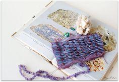 naturally dyed silk with indigo and brazilwood, shirred and smocked