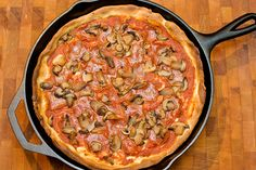 Deep Dish Pizza - one of my faves, which is saying a lot since I don't repeat many recipes. I like to mix up the toppings.