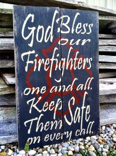 God Bless Fireman Sign Firemen Sign by CharmingWillows on Etsy $45