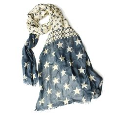 Blue Star Scarf by Charlotte's Web Patriotic Outfit, Patriotic Clothing, Charlottes Web, Great British, The Originals, Stars, Blue, Outfits, Clothes