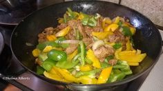 Pork Stir Fry with Bell Peppers
