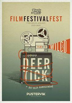 Woody West & GIFF FILMFESTIVALFEST - Live: DEER TICK (US) + DET BLEV HANDGEMÄNG #Pustervik #posters #poster #giff #filmfestival #illustration #deertick #event
