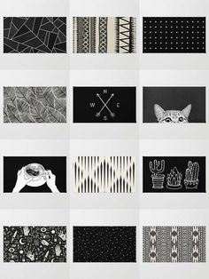 Society6 Black & White Rugs - Available in three different sizes, our Rugs are the perfect accent for any room.