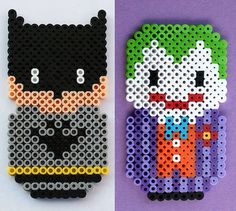 Batman and the Joker Perler Magnets. on Etsy, $12.00
