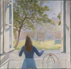 """""""Girl at a Window"""" by Balthus, Metropolitan Museum of Art, New York"""