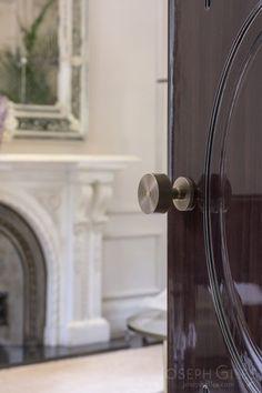 Joseph Giles antique brass ringed door knob