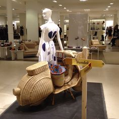 """LE BON MARCHE,Paris,France, """"Scooter on Standby"""", pinned by Ton van der Veer"""