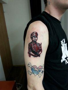 Anti-flag tattoo