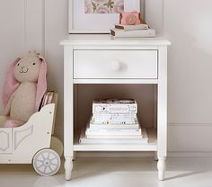 Anderson Nightstand Pottery Barn Kids CIC HOME Girl Bedroom - Pottery barn white bedside table