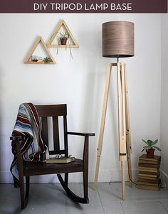 Make It: Tripod Floor Lamp With Wood Grain Shade