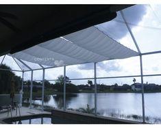 Seilspann-Sonnensegel rechteckig silbergrau 270x140 cm