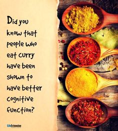 Curry may help ward off Alzheimer's disease. Are you into it? http://lef.co/curry