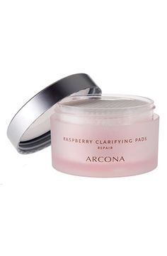 ARCONA 'Raspberry' Clarifying Pads | Nordstrom | $34 | Barefoot Blonde blog notes that Raspberry is supposed to repair, while Cranberry is supposed to refresh, but she likes them both the same, with the raspberry giving a nice tingle | use after washing face at night, and again in the morning