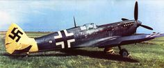 A captured Spitfire remarked with Luftwaffe insignia.
