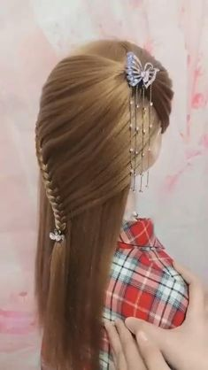 Hairstyles For Layered Hair, Headband Hairstyles, Braided Hairstyles, Cool Hairstyles, Summer Hairstyles, Hair Cutting Videos, Hair Videos, Braids For Long Hair, Long Hair Cuts
