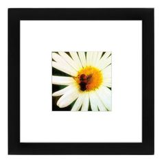 """Americanflat """"Bee Happy"""" Matted Framed Wall Art, Multicolor"""