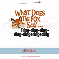 6081 Sayings : What Does The Fox Say 5x7