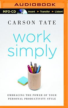 Work Simply: Embracing the Power of Your Personal Productivity Style by Carson Tate http://www.amazon.com/dp/1491552077/ref=cm_sw_r_pi_dp_OqyNvb170SS2N