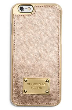Free shipping and returns on MICHAEL Michael Kors Metallic Leather iPhone 6 Case at Nordstrom.com. A gleaming logo plate polishes a sturdy iPhone case designed to keep your phone safe and stylish.