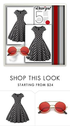 """Rosegal_Dresses"" by p-mujkanovic ❤ liked on Polyvore featuring vintage"