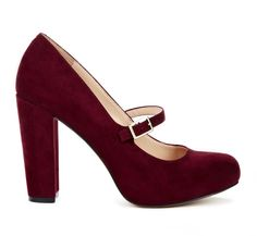 Burgundy Mary Janes in Suede! Sexy little fall shoe!