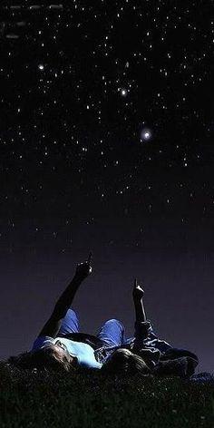On peux voir les étoiles...❤