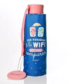 Paraguas manual de Mr. wonderful pequeño en color azul