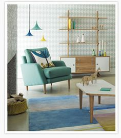 Scandinavian design - though those bookshelves will probably be used for more things...