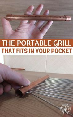 The Portable Grill that Fits in Your Pocket — An easy to set up, portable cooking device is valuable in so many situations: hiking trips, camping, and especially survival situations where we won't have access to our normal conveniences. #camping #diy #por