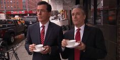 And that one guy, Stephen Colbert. | 29 Reasons Jon Stewart Is The Most Perfect Man On Earth