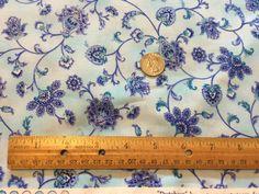 Blue Mist Floral Vine - Dutchess - Timeless Treasures