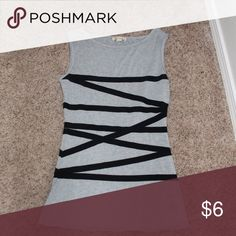 Tank top The wrap around detail is flattering on the waistline. Pairs nicely with leggings or jeans. Tops Tank Tops
