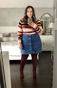20 thanksgiving outfit ideas in 2019 20 thanksgiving outfit ideas in 2019 Big Girl Fashion, Curvy Fashion, Womens Fashion, Fashion 2018, Cheap Fashion, Fashion Fashion, High Fashion, Skirt Outfits, Fall Outfits