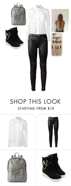 """""""skola"""" by ivana-milovanovic ❤ liked on Polyvore featuring Altuzarra, BLK DNM, Candie's and Casetify"""