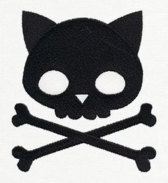 Punk Kitty design (UT8053) from UrbanThreads.com - embroidery design to add on clothing