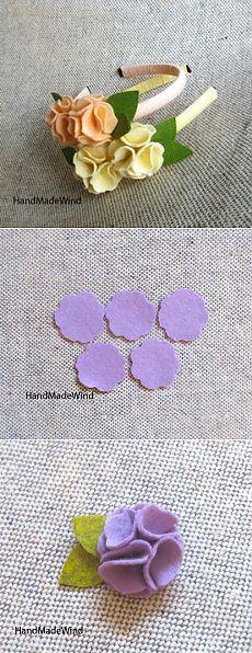 Украшаем цветами из фетра ободки и заколки / Цветы из ткани / PassionForum - мастер-классы по рукоделию