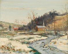 Scène du Nord de Kutztown, Pa de Walter Emerson Baum (1884-1956, United States)