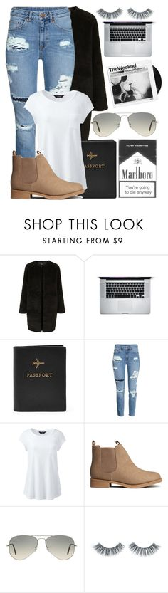 """#54"" by oneandonlyfashion ❤ liked on Polyvore featuring Topshop, FOSSIL, H&M, Lands' End, Ray-Ban, Napoleon Perdis and plus size clothing"