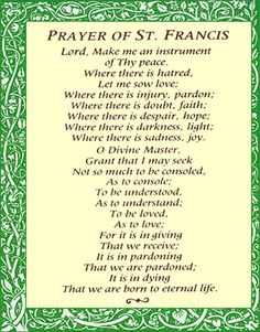 prayer of st. francis | Le Belle Amour