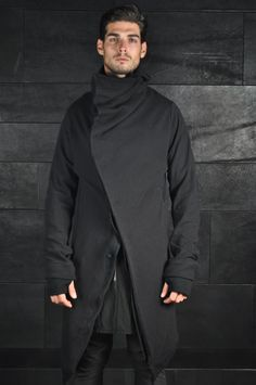 Long Mask Hooded Cardigan