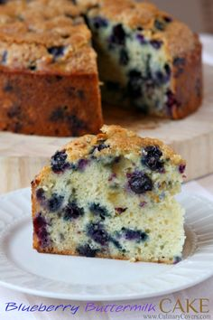 Buttermilk Blueberry Cake from CulinaryCovers.com