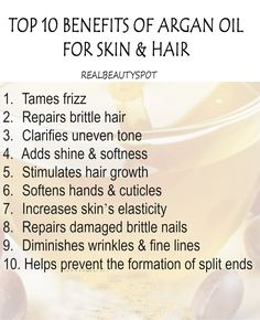 10 Best Benefits and Uses of Argan Oil for Skin and Hair Healthy Beauty, Health And Beauty, Healthy Hair, Argan Oil Benefits, Brittle Hair, Face Treatment, Beauty Tips, Diy Beauty, Hair Loss Remedies