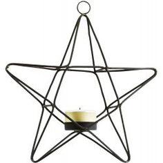 Madam Stoltz Kerzenständer - Hanging Star - Schwarz