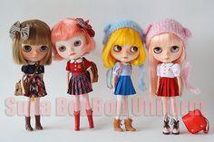 Blythe Doll Dress  Pink Uniform onepiece Skirt by SupaBonbonniere, $37.00