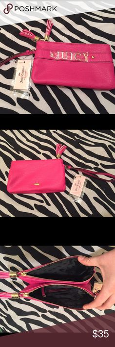 Juicy Couture HOT PINK Wristlet *NWT* This wristlet is as cute as it is functional. The bright color makes it the perfect accent piece. Juicy Couture Bags Clutches & Wristlets