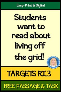 EASY PRINT OR DIGITAL HIGH-INTEREST TOPIC students of all ages (and adults) are curious about in a 1-page blog-post-style informational text passage that provides 10 reasons for living off the grid! It's paired with 1 page of ELA tasks that assess reading, writing, and language skills aligned to multiple core standards assessed on standardized tests. Focuses MOST intently on analyzing how and why individuals, events, or ideas develop and interact over the course of a text (Aligns to CCRA.3). 8th Grade Ela, Eighth Grade, Middle School Ela, High School, Common Core Ela, Teaching Language Arts, Thing 1, Off The Grid, Upper Elementary