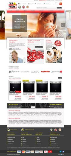 E-Commerce Webdesign made by 4market | http://www.4market.de/ | Onlineshop für Küchengeräte und Möbel