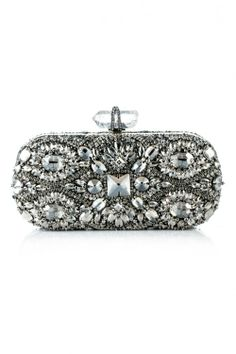 Shop Lily Embroidered Clutch by Marchesa for Preorder on Moda Operandi Embroidery Purse, Designer Clutch, Designer Bags, Vintage Purses, Vintage Hats, Beautiful Bags, Evening Bags, Evening Clutches, Clutch Purse